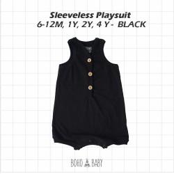Bohobaby - Sleeveless Playsuit 3Y, 4Y - Black