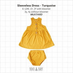 Bohobaby - Sleeveless Dress 3Y, 4Y (Without Bloomer) - Mustard