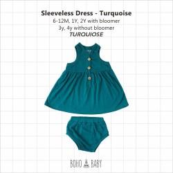 Bohobaby - Sleeveless Dress 3Y, 4Y (Without Bloomer) - Turqouise