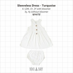 Bohobaby - Sleeveless Dress 3Y, 4Y (Without Bloomer) - White