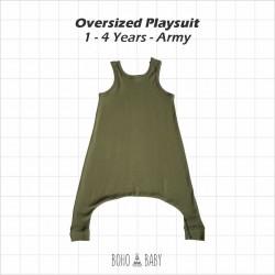 Bohobaby - Oversized Playsuit 3Y,4Y - Army