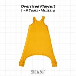 Bohobaby - Oversized Playsuit 3Y,4Y - Mustard