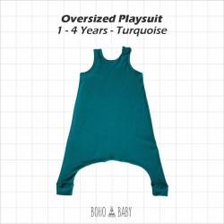 Bohobaby - Oversized Playsuit 3Y,4Y - Turqouise
