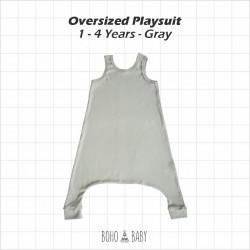 Bohobaby - Oversized Playsuit 3Y,4Y - Gray