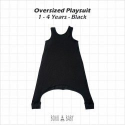 Bohobaby - Oversized Playsuit 3Y,4Y - Black