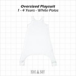 Bohobaby - Oversized Playsuit 1Y,2Y - White Polos