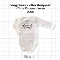 Bohobaby - Longsleeve Letter Bodysuit - White Forever Loved [Long]