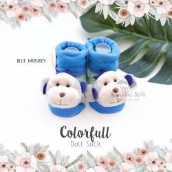 Colorfull Doll Sock - Blue Monkey