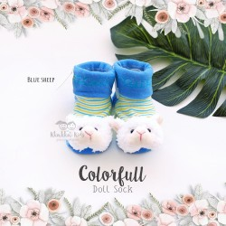Colorfull Doll Sock - Blue Sheep