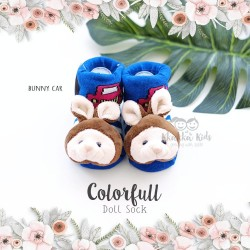 Colorfull Doll Sock - Bunny Car