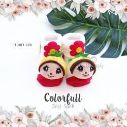 Colorfull Doll Sock - Flower Girl