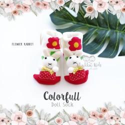 Colorfull Doll Sock - Flower Rabbit