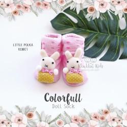 Colorfull Doll Sock - Little Polka Rabbit