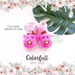 Colorfull Doll Sock - Little Polka Bernard Hot Pink
