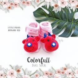 Colorfull Doll Sock - Little Polka Bernard Red