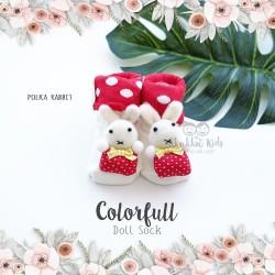 Colorfull Doll Sock - Polka Rabbit