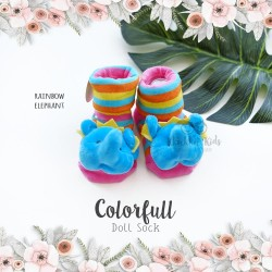 Colorfull Doll Sock - Rainbow Elephant