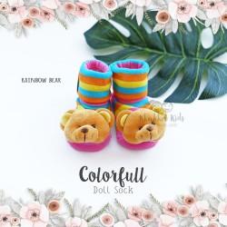 Colorfull Doll Sock - Rainbow Bear