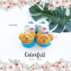 Colorfull Doll Sock - Star Bear