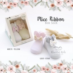 Mice Ribbon Box Sock
