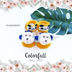 Colorfull Doll Sock - Yellow Monkey