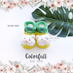 Colorfull Doll Sock - Yellow Sheep