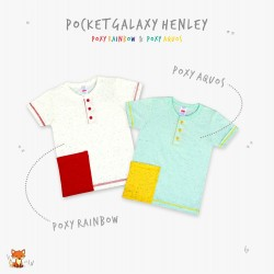Little Jack - Poket Galaxy (Poxy) Aquos Henley Shirt