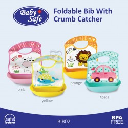 Baby Safe - Foldable Bib With Crumb Catcher - BIB02