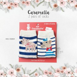 Caramella 2 Pairs Of Socks - Duo Striped