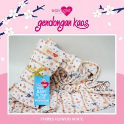 Baby Love Geos - Stripes Flowers White