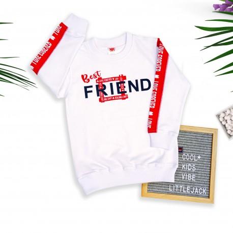 Little Jack - Bestfriend Long T-shirt - White