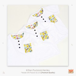 Little Jack - Kitten Pockslub Henley Shirt