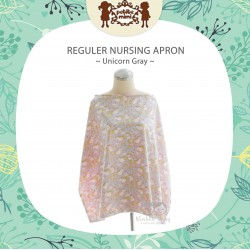 Petite Mimi - Reguler Nursing Apron - Unicorn Gray
