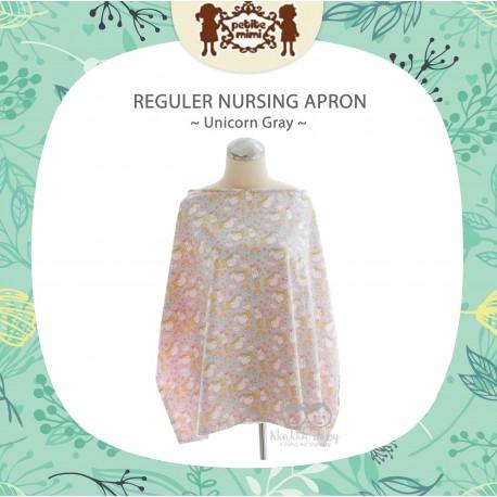Petite Mimi - Reguler Nursing Apron - Unicorn Gray