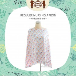 Petite Mimi - Reguler Nursing Apron - Unicorn Blue
