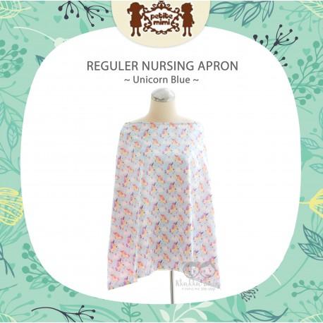 Petite Mimi - Reguler Nursing Apron - Unicorn Blue