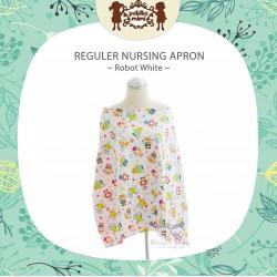 Petite Mimi - Reguler Nursing Apron - Robot White