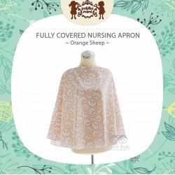 Petite Mimi - Fully Covered Nursing Apron - Orange Sheep
