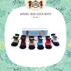 Petite Mimi - 6Pairs Box Sock Boys - Punk