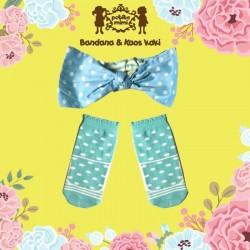 Petite Mimi - Sock and Headband Set - Polka Tosca