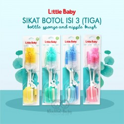 Little Baby - Sikat Botol isi 3(Tiga)