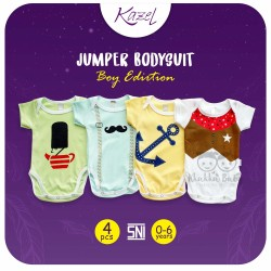 Kazel - Jumper Bodysuit (4 pcs/pack) -  Boy Edition