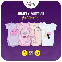 Kazel - Jumper Bodysuit (4 pcs/pack) -  Girl Edition