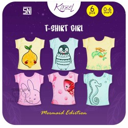 Kazel - Tshirt Girl (6 pcs/Pack) - Mermaid Edition