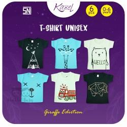 Kazel - Tshirt Unisex (6 pcs/Pack) - Giraffe Edition