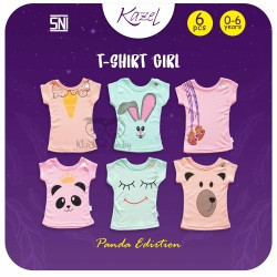 Kazel - Tshirt Girl (6 pcs/Pack) - Panda Edition