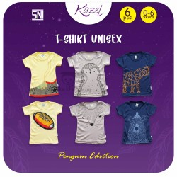 Kazel - Tshirt Unisex (6 pcs/Pack) - Penguin Edition
