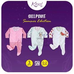 Kazel - Sleepsuit (3 set/pack) -  Summer Edition