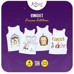 Kazel - Singlet (4 pcs/pack) -  Circus Edition