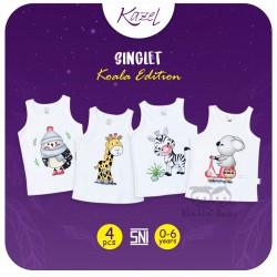 Kazel - Singlet (4 pcs/pack) -  Koala Edition